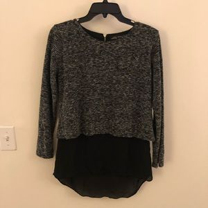 Zara female layered look blouse